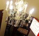 Chandelier to light up our spiral staircase